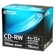 Перейти на страницу товара  TDK CD-RW 80 4-12x Jewel Case (10)