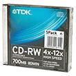 Перейти на страницу товара  TDK CD-RW 80 4-12x Slim Case (5)