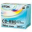Перейти на страницу товара  TDK CD-R 80 52x (d-View) Slim (20)